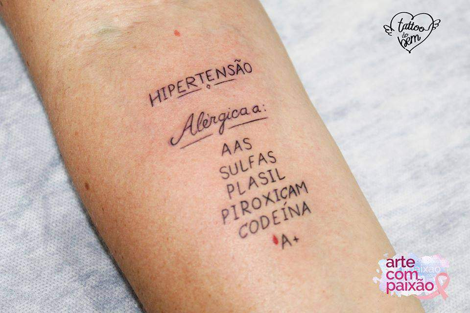 ¿Has oído hablar de tatuajes del bien? Hacen alertas importantes sobre la salud y pueden salvar vidas! 2