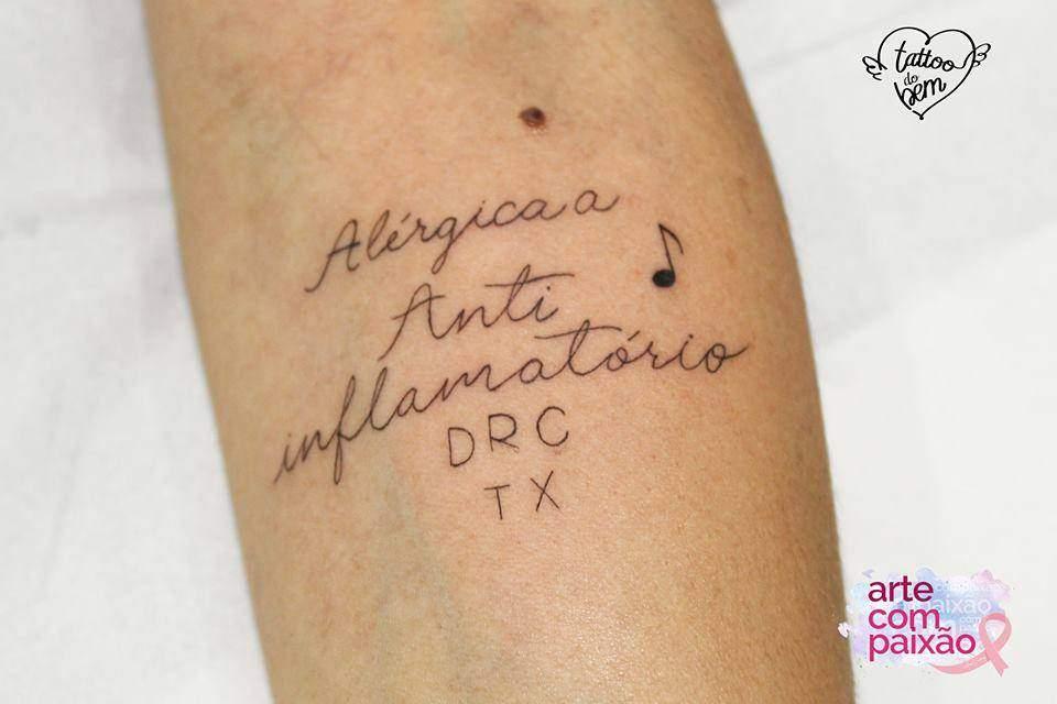 ¿Has oído hablar de tatuajes del bien? Hacen alertas importantes sobre la salud y pueden salvar vidas! 11
