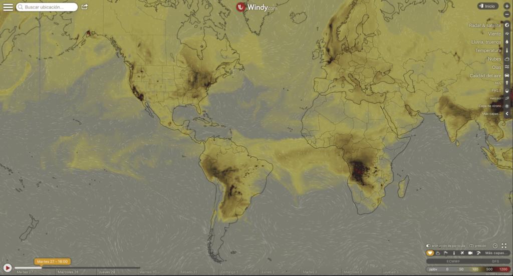 Mapa interactivo de todos los incendios activos, en tiempo real, y que están arrasando el planeta 3