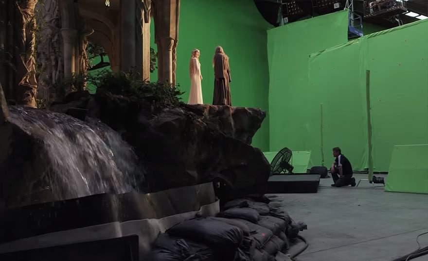 Una increíble selección del antes y después de incluir efectos especiales en 10 famosas películas 35
