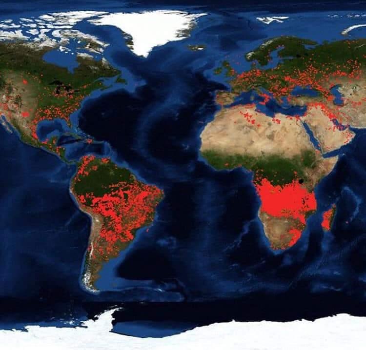 Mapa interactivo de todos los incendios activos, en tiempo real, y que están arrasando el planeta 2
