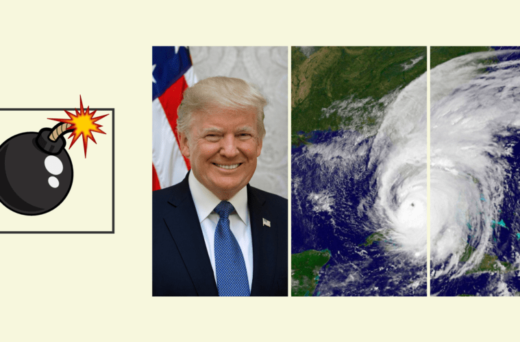 Dicen que Trump propone lanzar bombas nucleares para frenar huracanes, ¿es verdad? 2