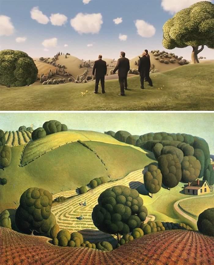 100 escenas de cine inspiradas en famosas obras de arte 39