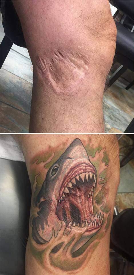 Las soluciones más divertidas para transformar una cicatriz en un original tatuaje 23