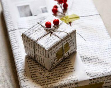 Ayúdanos a hacer viral esta idea ecológica: usar papel de periódico para envolver regalos esta Navidad 4