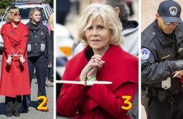 ¿Por qué detienen a Jane Fonda? Descubre la verdad tras su protesta pacífica (y el significado de su abrigo rojo) 4