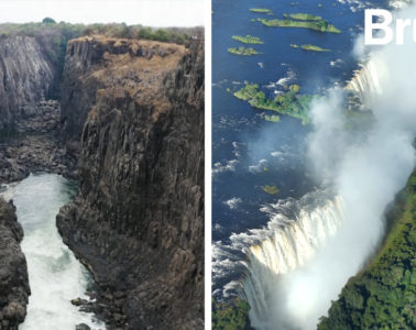 La terrible sequía que ha reducido las cataratas Victoria a un hilo de agua 12