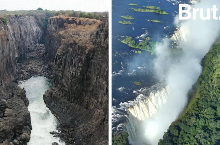 La terrible sequía que ha reducido las cataratas Victoria a un hilo de agua 2