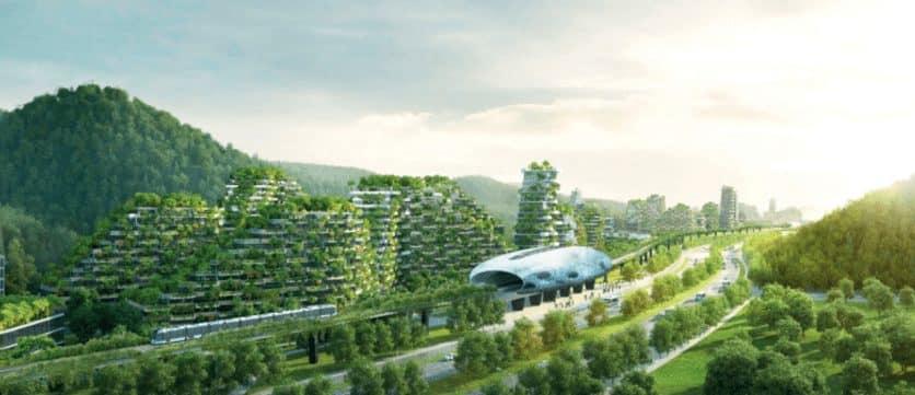 Diseñan la primera gran ciudad-bosque: producirá 900 toneladas anuales de aire limpio 1