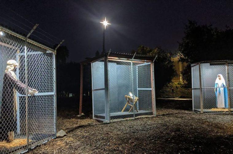 Una iglesia californiana crea un pesebre para denunciar la separación de familias migrantes en EE.UU. 2
