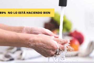¿Sabemos cómo lavarnos las manos para frenar una pandemia? el 89% lo hace mal 57