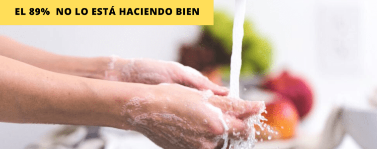 ¿Sabemos cómo lavarnos las manos para frenar una pandemia? el 89% lo hace mal 18