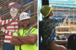 Este obrero esconde a Wally cada mañana para que jueguen los niños del hospital de enfrente 20