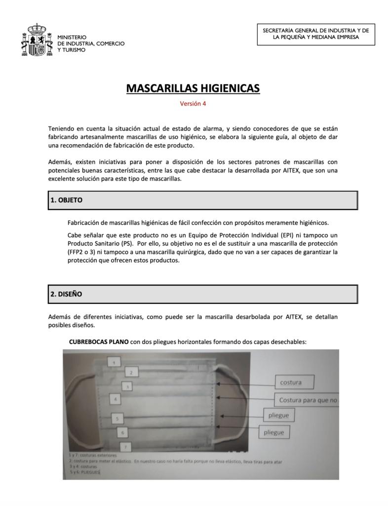 La guía oficial sanitaria para fabricar tus propias mascarillas (actualizada) 8