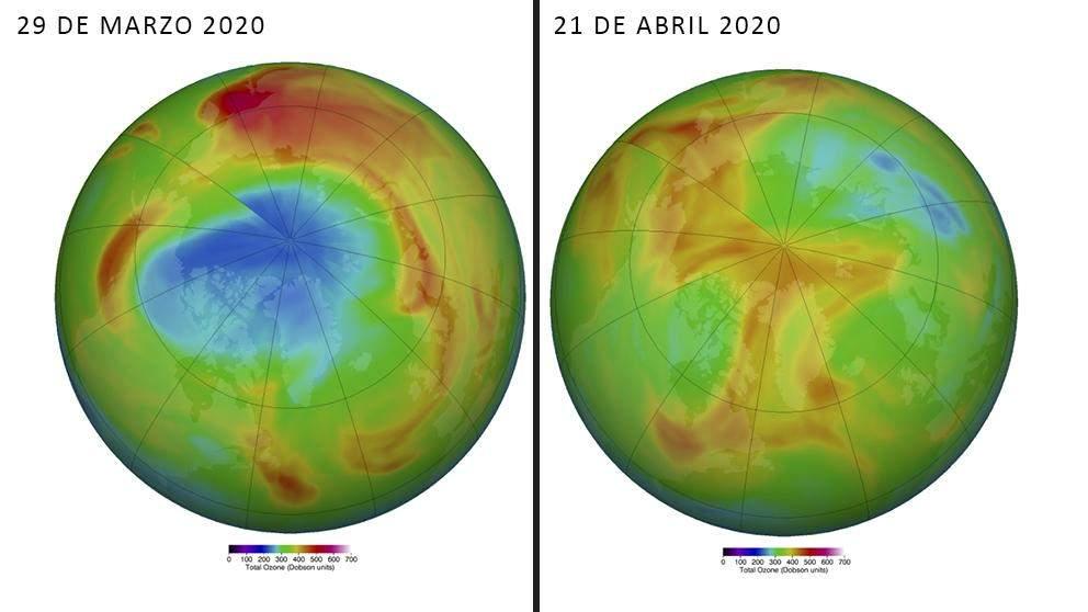 El gigante agujero en el ozono del Ártico se cierra misteriosamente 1