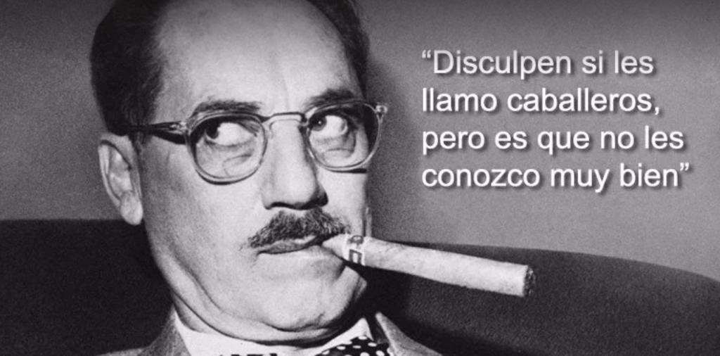 Los 14 grandes principios de un genio: Groucho Marx 1