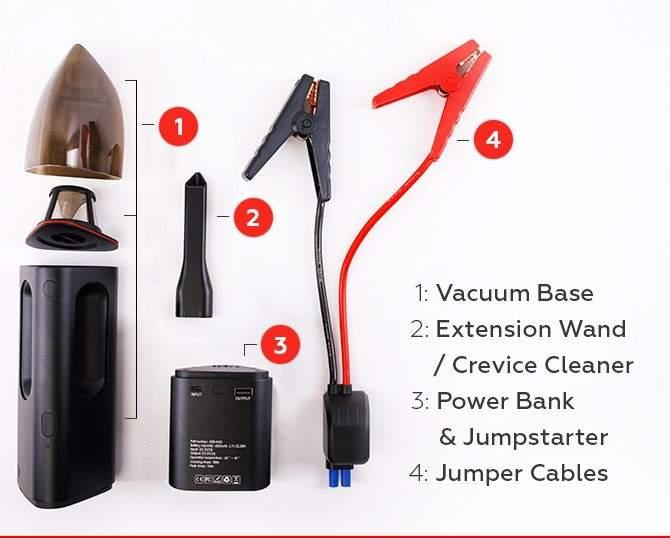 Innovación 3 en 1: la aspiradora que también te ayuda a arrancar el coche y cargar el móvil 5