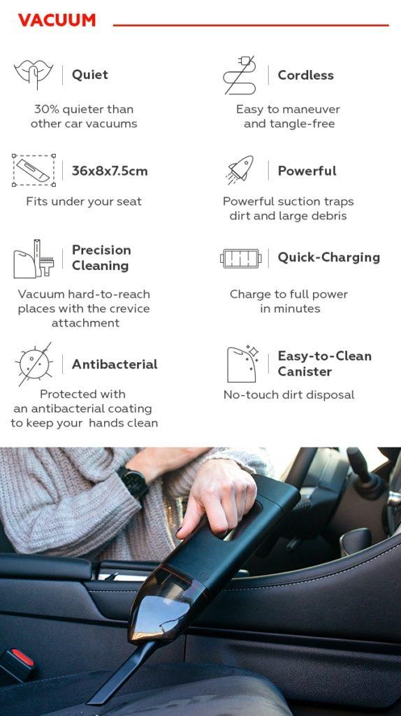 Innovación 3 en 1: la aspiradora que también te ayuda a arrancar el coche y cargar el móvil 3