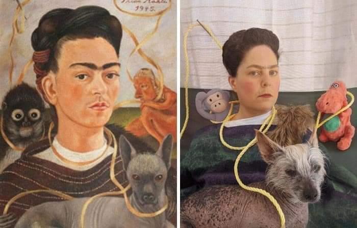 Los museos piden a la gente que recreen sus obras de arte y el resultado es... ¡divertidísimo! 19