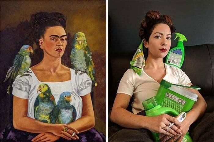 Los museos piden a la gente que recreen sus obras de arte y el resultado es... ¡divertidísimo! 21