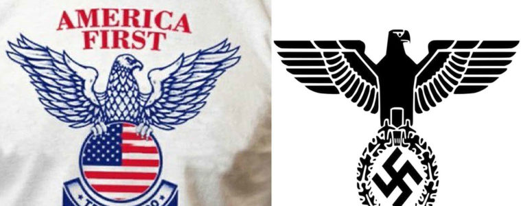 El nuevo logo de Trump se parece demasiado a este emblema fascista. ¿Qué peligro real implica? 2