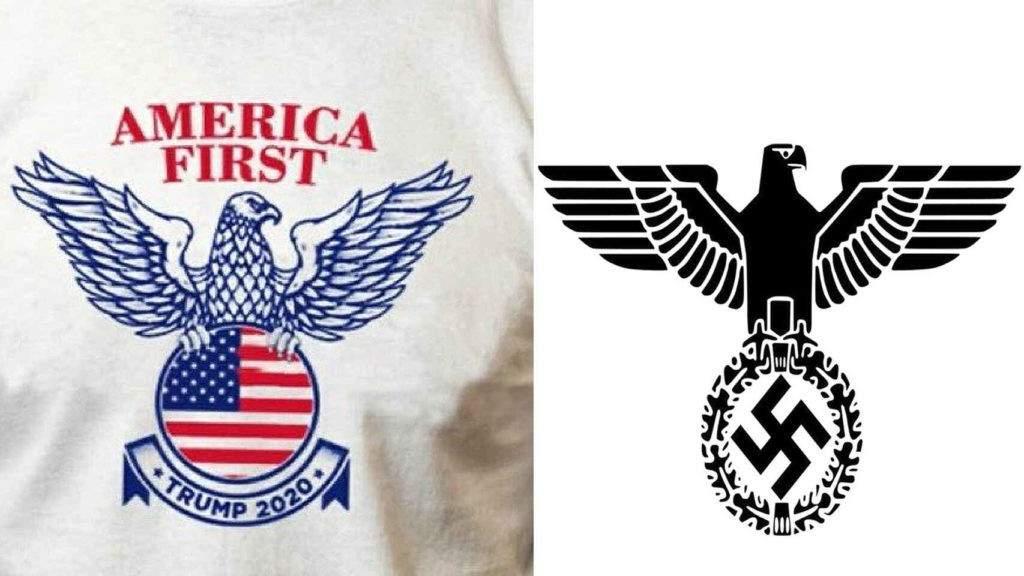 El nuevo logo de Trump se parece demasiado a este emblema fascista. ¿Qué peligro real implica? 1