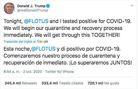 ¿Qué implica que Trump y Melania den positivo en Covid-19? Atentos a lo que está por venir 1