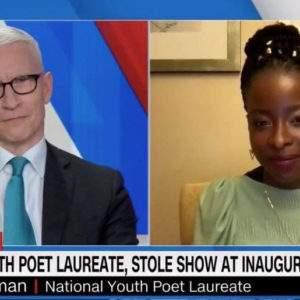 Amanda Gorman deja sin palabras a este entrevistador tras su histórico poema 7