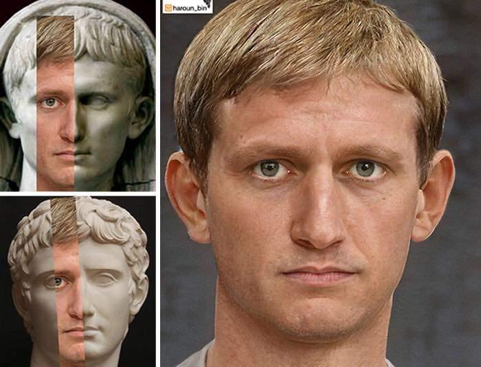 Un artista recrea cómo serían los rostros emperadores romanos usando IA y reconstrucción facial digital 1