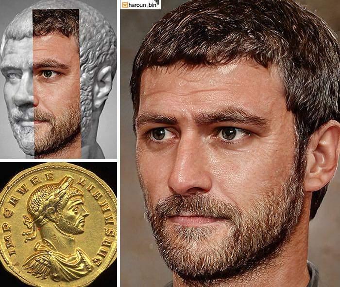 Un artista recrea cómo serían los rostros emperadores romanos usando IA y reconstrucción facial digital 23