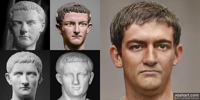 Un artista recrea cómo serían los rostros emperadores romanos usando IA y reconstrucción facial digital 4
