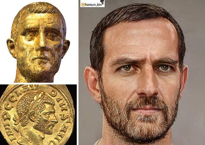 Un artista recrea cómo serían los rostros emperadores romanos usando IA y reconstrucción facial digital 21
