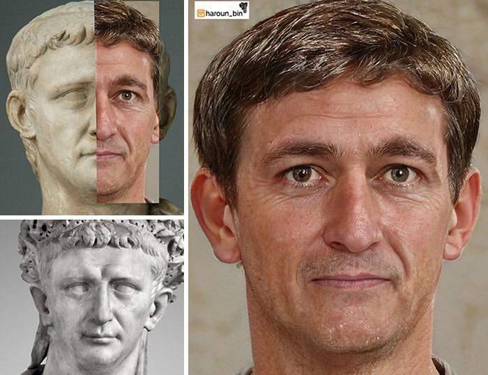 Un artista recrea cómo serían los rostros emperadores romanos usando IA y reconstrucción facial digital 5