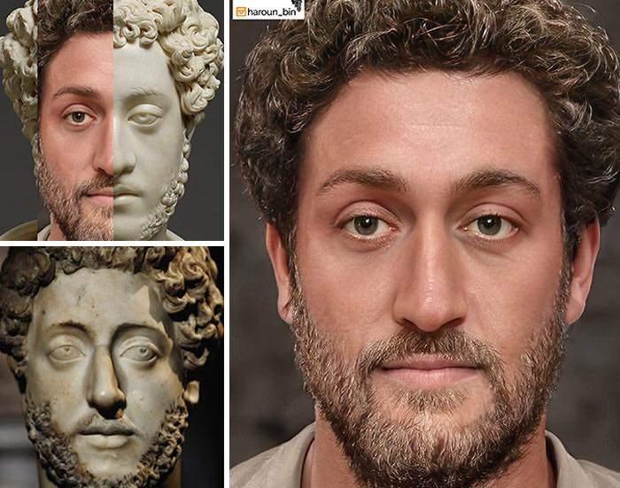 Un artista recrea cómo serían los rostros emperadores romanos usando IA y reconstrucción facial digital 11