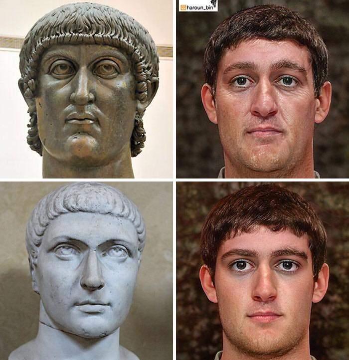 Un artista recrea cómo serían los rostros emperadores romanos usando IA y reconstrucción facial digital 29