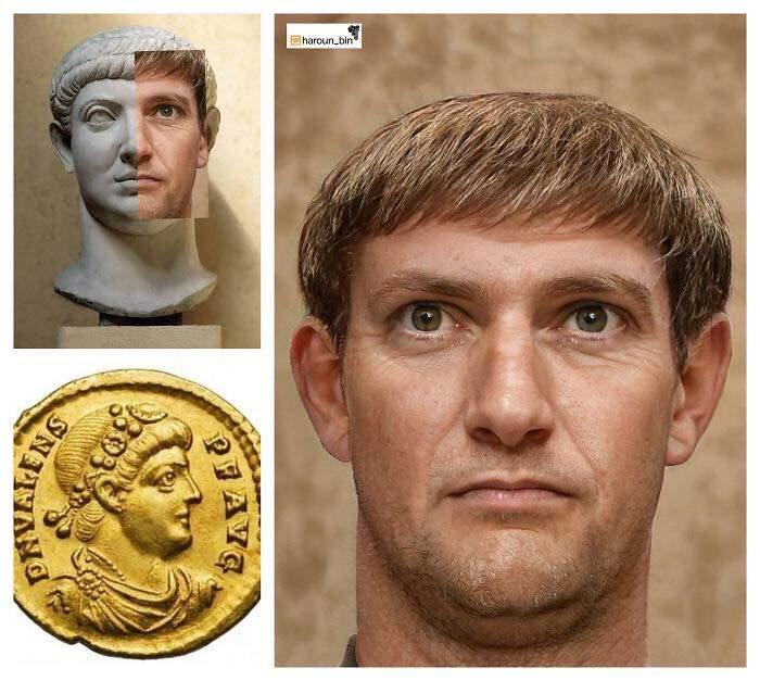 Un artista recrea cómo serían los rostros emperadores romanos usando IA y reconstrucción facial digital 30