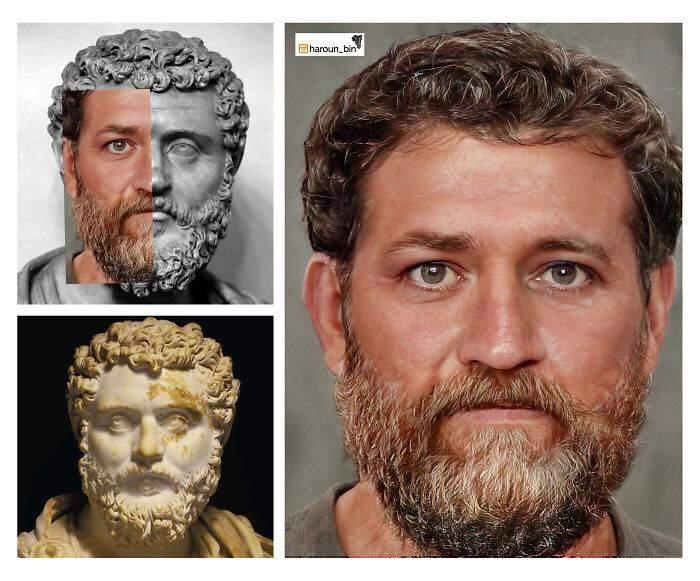 Un artista recrea cómo serían los rostros emperadores romanos usando IA y reconstrucción facial digital 13