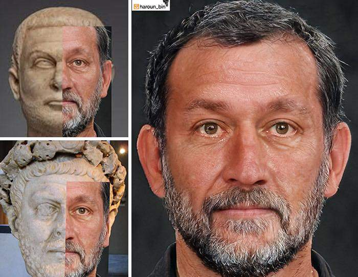 Un artista recrea cómo serían los rostros emperadores romanos usando IA y reconstrucción facial digital 27