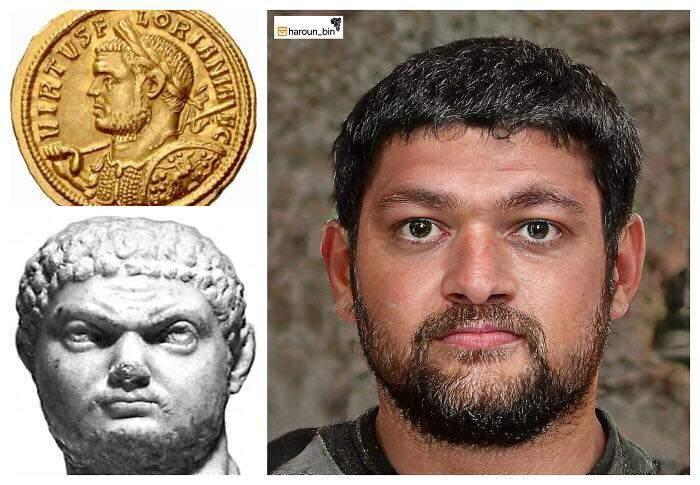 Un artista recrea cómo serían los rostros emperadores romanos usando IA y reconstrucción facial digital 25