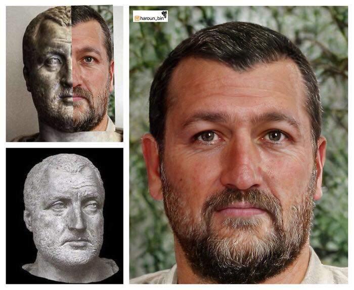 Un artista recrea cómo serían los rostros emperadores romanos usando IA y reconstrucción facial digital 20