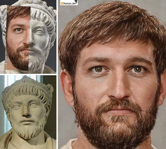Un artista recrea cómo serían los rostros emperadores romanos usando IA y reconstrucción facial digital 31