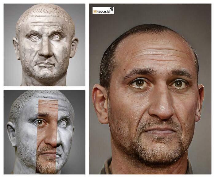 Un artista recrea cómo serían los rostros emperadores romanos usando IA y reconstrucción facial digital 28