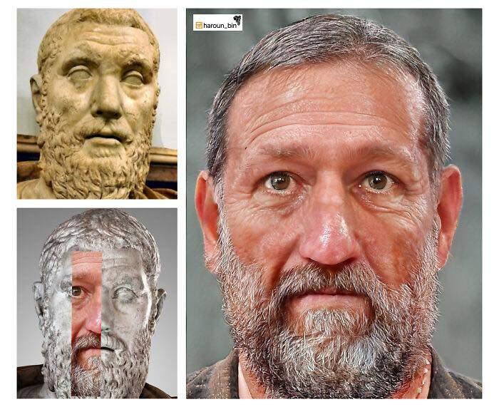 Un artista recrea cómo serían los rostros emperadores romanos usando IA y reconstrucción facial digital 16