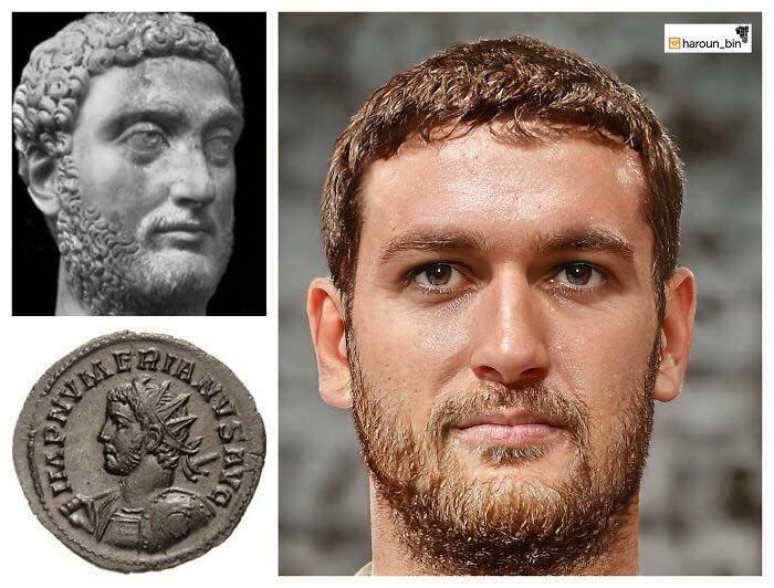 Un artista recrea cómo serían los rostros emperadores romanos usando IA y reconstrucción facial digital 26