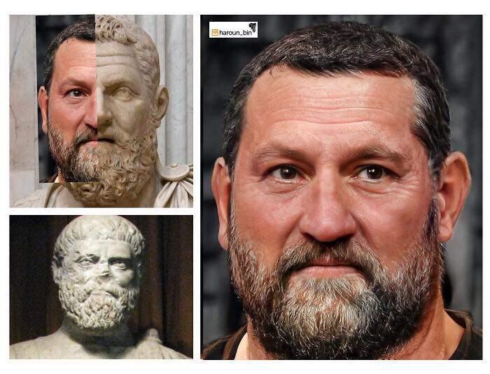 Un artista recrea cómo serían los rostros emperadores romanos usando IA y reconstrucción facial digital 12