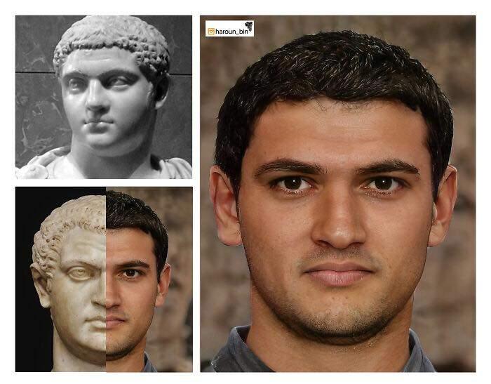 Un artista recrea cómo serían los rostros emperadores romanos usando IA y reconstrucción facial digital 15