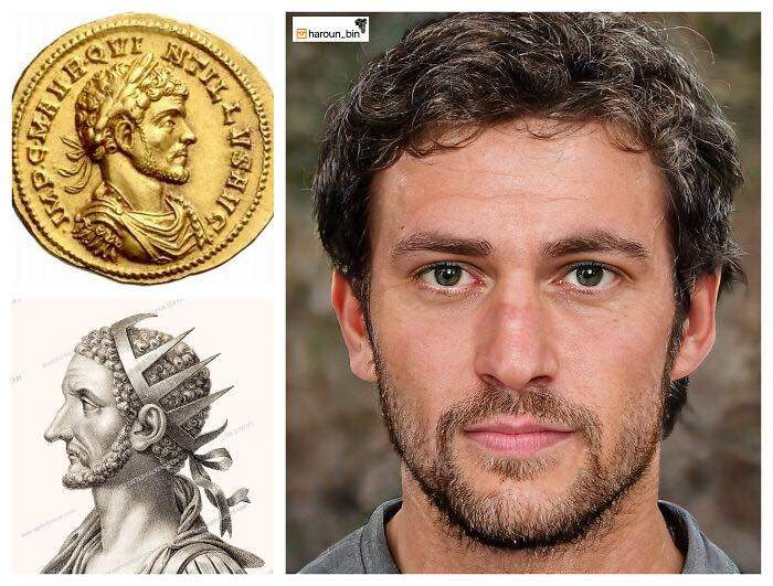 Un artista recrea cómo serían los rostros emperadores romanos usando IA y reconstrucción facial digital 22