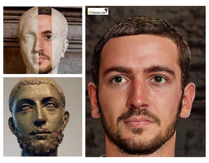 Un artista recrea cómo serían los rostros emperadores romanos usando IA y reconstrucción facial digital 17