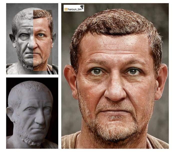 Un artista recrea cómo serían los rostros emperadores romanos usando IA y reconstrucción facial digital 24