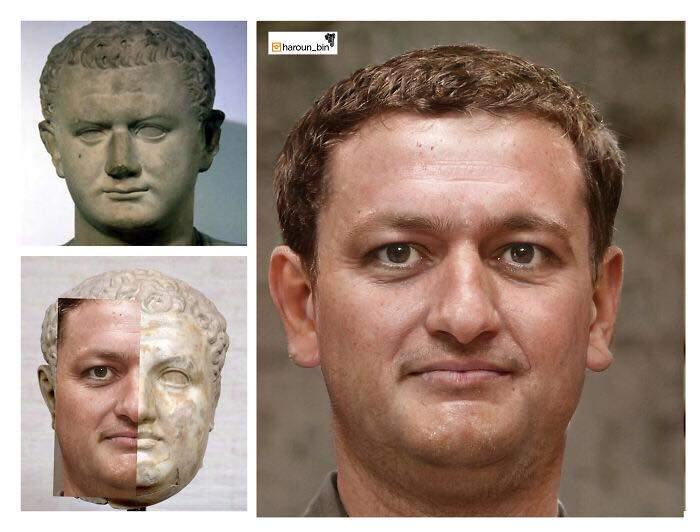 Un artista recrea cómo serían los rostros emperadores romanos usando IA y reconstrucción facial digital 7